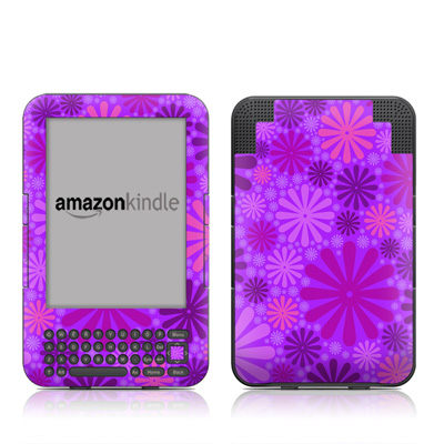 Kindle Keyboard Skin - Purple Punch