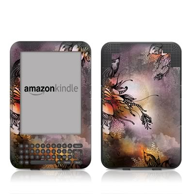 Kindle Keyboard Skin - Purple Rain