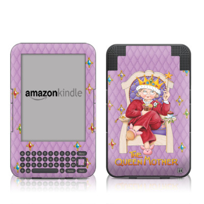 Kindle Keyboard Skin - Queen Mother