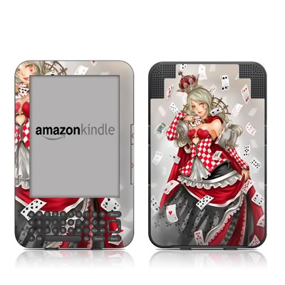 Kindle Keyboard Skin - Queen Of Cards