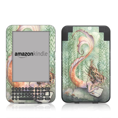 Kindle Keyboard Skin - Quiet Time