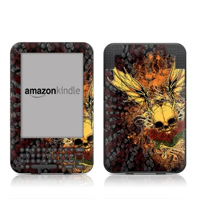 Kindle Keyboard Skin - Radiant Skull