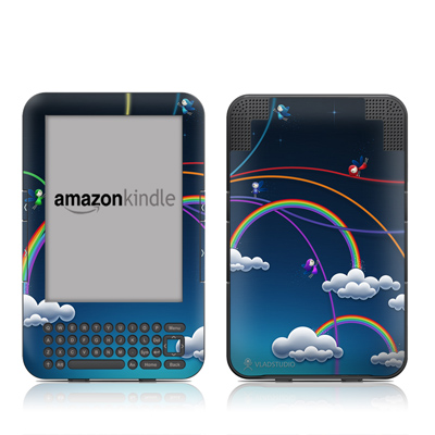 Kindle Keyboard Skin - Rainbows