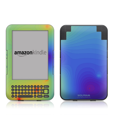 Kindle Keyboard Skin - Rainbow Contours