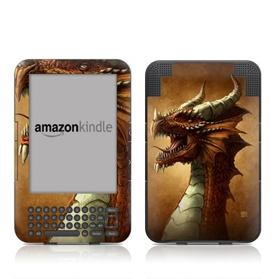 Kindle Keyboard Skin - Red Dragon
