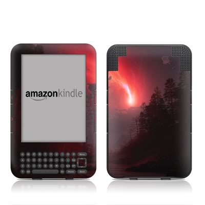 Kindle Keyboard Skin - Red Harbinger