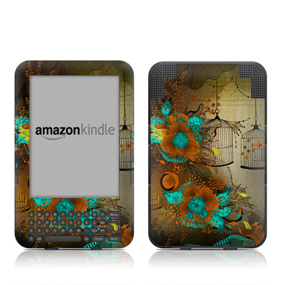 Kindle Keyboard Skin - Rusty Lace