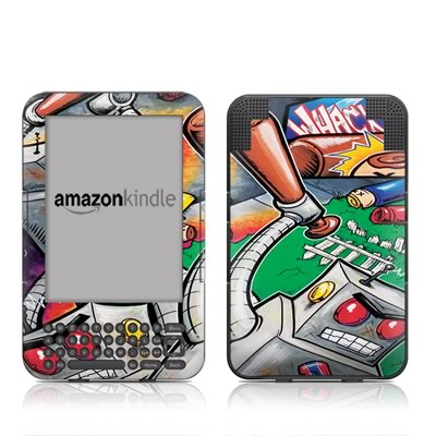 Kindle Keyboard Skin - Robot Beatdown