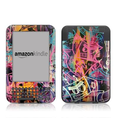 Kindle Keyboard Skin - Robot Roundup