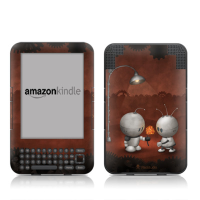 Kindle Keyboard Skin - Robots In Love