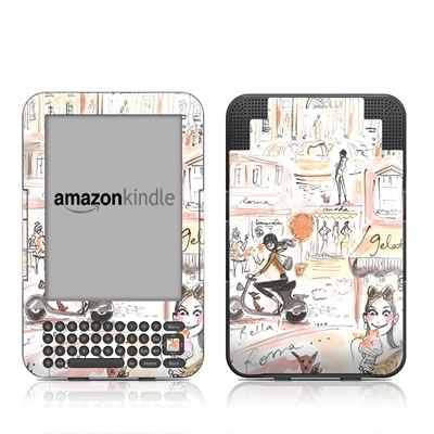 Kindle Keyboard Skin - Rome Scene