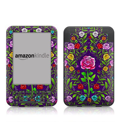 Kindle Keyboard Skin - Rose Burst