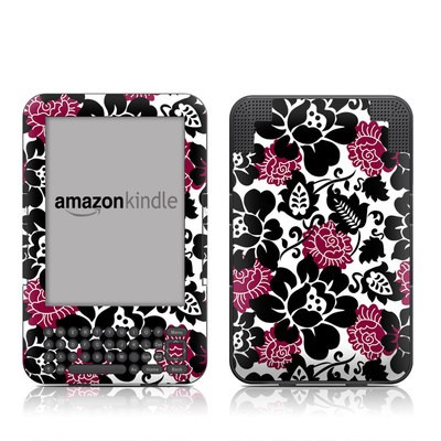 Kindle Keyboard Skin - Rose Noir