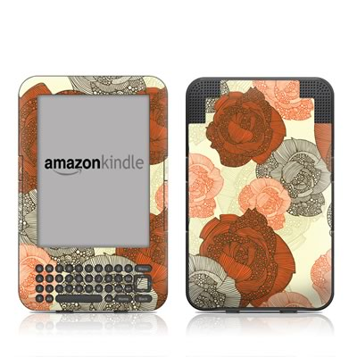 Kindle Keyboard Skin - Roses