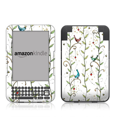Kindle Keyboard Skin - Royal Birds
