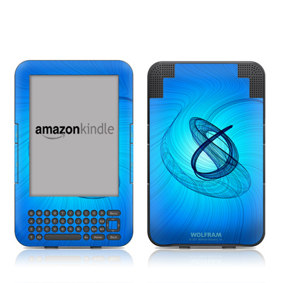 Kindle Keyboard Skin - Rotating Swirls