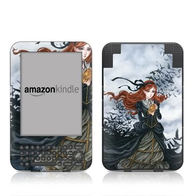 Kindle Keyboard Skin - Raven's Treasure