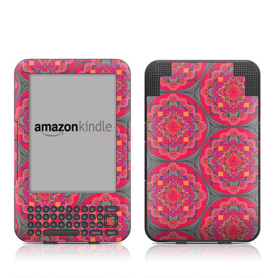 Kindle Keyboard Skin - Ruby Salon