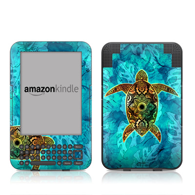 Kindle Keyboard Skin - Sacred Honu