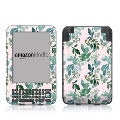 Kindle Keyboard Skin - Sage Greenery