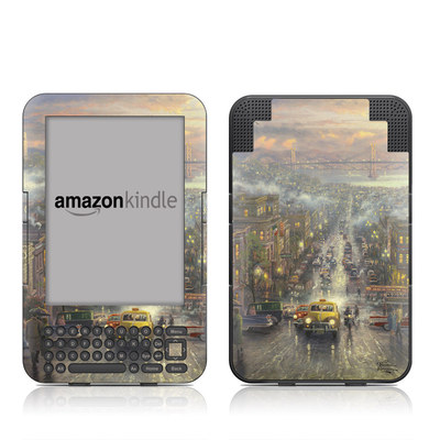 Kindle Keyboard Skin - Heart of San Francisco