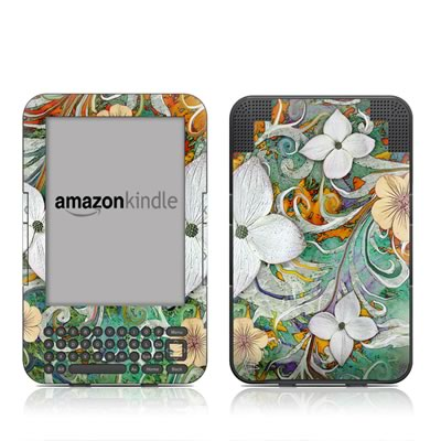 Kindle Keyboard Skin - Sangria Flora