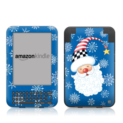 Kindle Keyboard Skin - Santa Snowflake