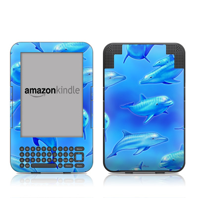 Kindle Keyboard Skin - Swimming Dolphins