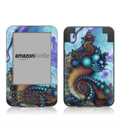 Kindle Keyboard Skin - Sea Jewel