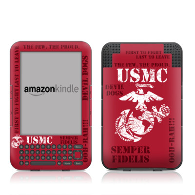 Kindle Keyboard Skin - Semper Fi