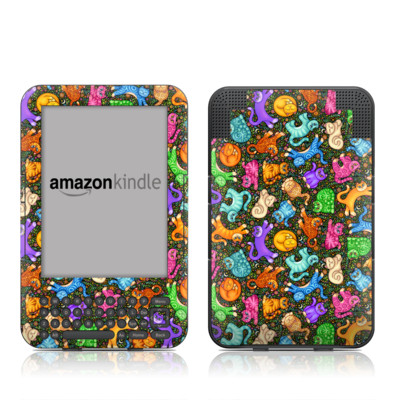 Kindle Keyboard Skin - Sew Catty