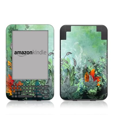 Kindle Keyboard Skin - Sea Flora