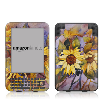 Kindle Keyboard Skin - Sunflower