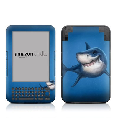 Kindle Keyboard Skin - Shark Totem