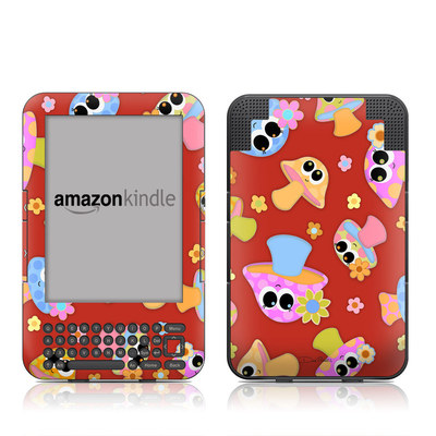 Kindle Keyboard Skin - Shroomies