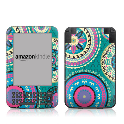Kindle Keyboard Skin - Silk Road