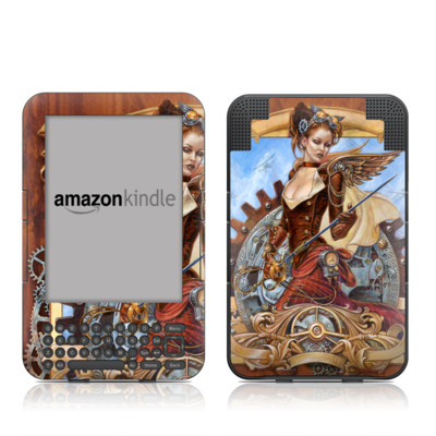 Kindle Keyboard Skin - Steam Jenny