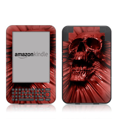 Kindle Keyboard Skin - Skull Blood