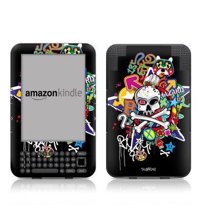 Kindle Keyboard Skin - Skulldaze