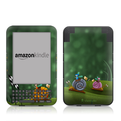 Kindle Keyboard Skin - Snail Race