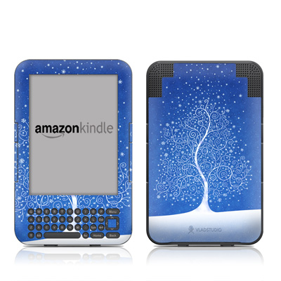 Kindle Keyboard Skin - Snowflakes Are Born