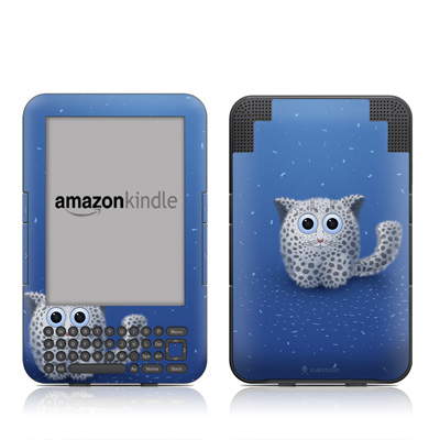 Kindle Keyboard Skin - Snow Leopard