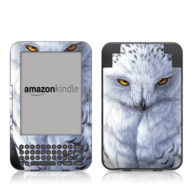 Kindle Keyboard Skin - Snowy Owl