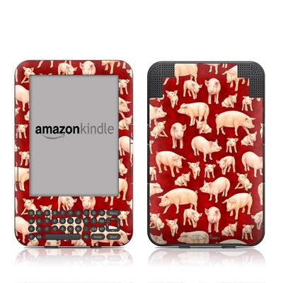 Kindle Keyboard Skin - Some Pig