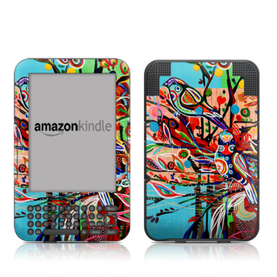 Kindle Keyboard Skin - Spring Birds
