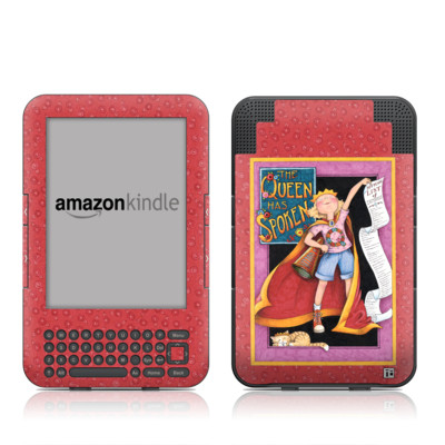 Kindle Keyboard Skin - Queen Has Spoken
