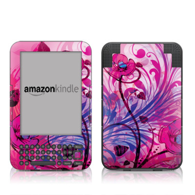 Kindle Keyboard Skin - Spring Breeze