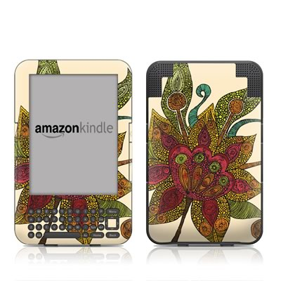 Kindle Keyboard Skin - Spring Flower
