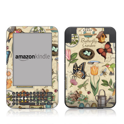 Kindle Keyboard Skin - Spring All