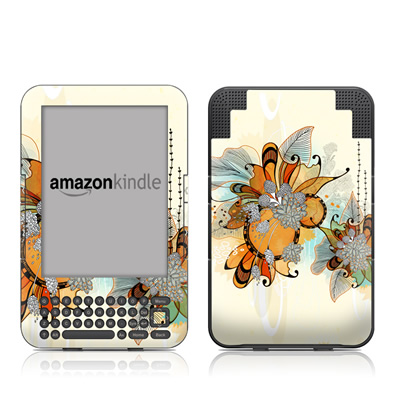 Kindle Keyboard Skin - Sunset Flowers